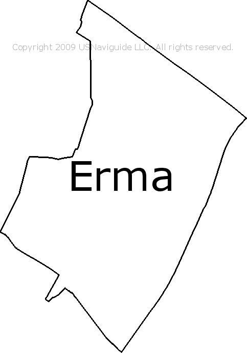Erma, New Jersey Zip Code Boundary Map (NJ)