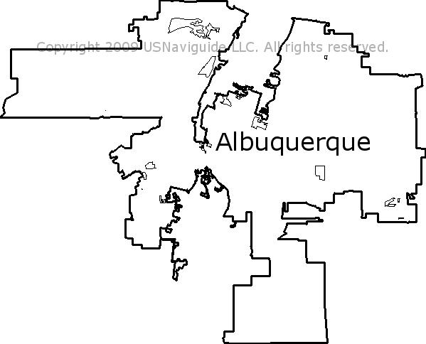Albuquerque Academy Campus Map.Albuquerque New Mexico Zip Code Boundary Map Nm