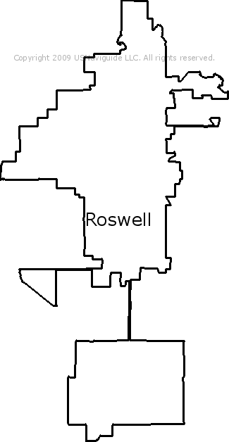 Roswell Zip Code Map.Roswell New Mexico Zip Code Boundary Map Nm
