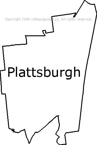 Plattsburgh Ny Zip Code Map.Plattsburgh New York Zip Code Boundary Map Ny