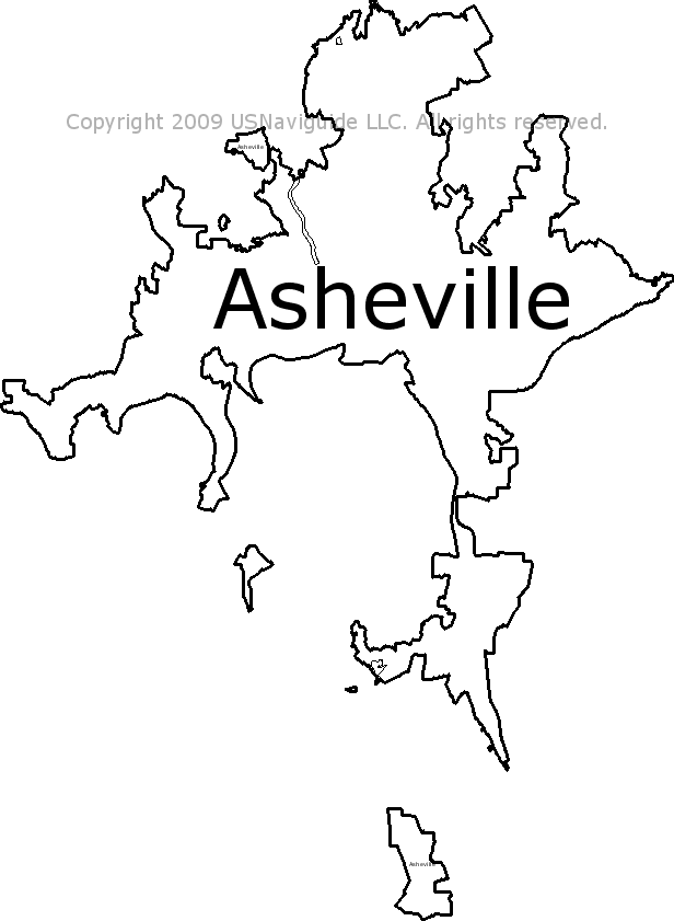 Asheville North Carolina Zip Code Map.Asheville North Carolina Zip Code Boundary Map Nc