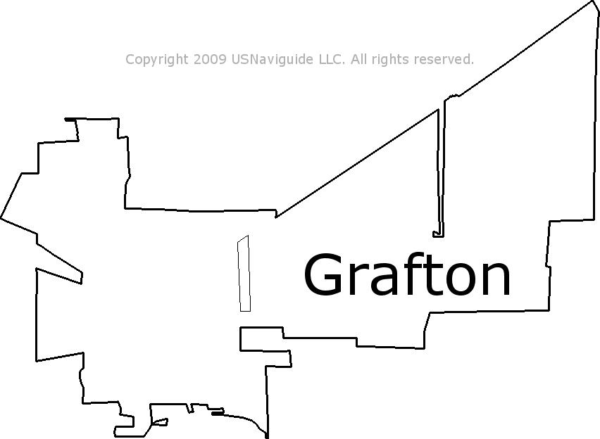 Grafton Ohio Zip Code Boundary Map Oh
