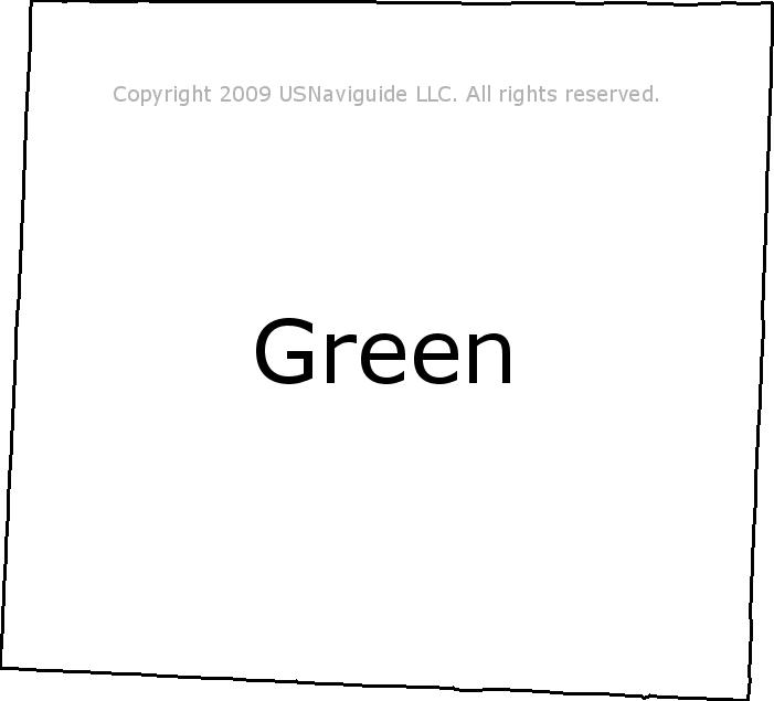 Green Ohio Zip Code Boundary Map Oh