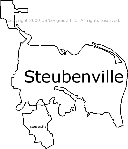 steubenville oh zip code map Steubenville Ohio Zip Code Boundary Map Oh