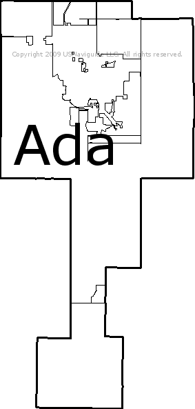 Ada Ok Zip Code Map.Ada Oklahoma Zip Code Boundary Map Ok