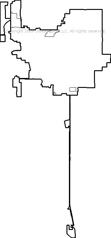 Bartlesville Oklahoma Zip Code Boundary Map Ok