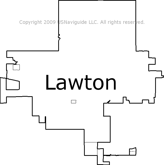 Lawton Oklahoma Zip Code Boundary Map OK