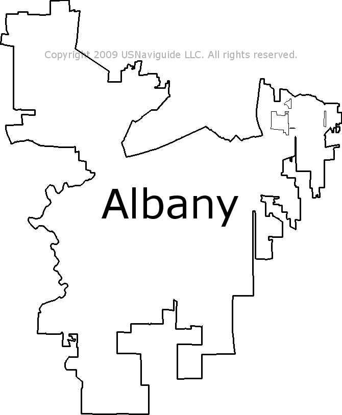 Albany Or Zip Code Map.Albany Oregon Zip Code Boundary Map Or