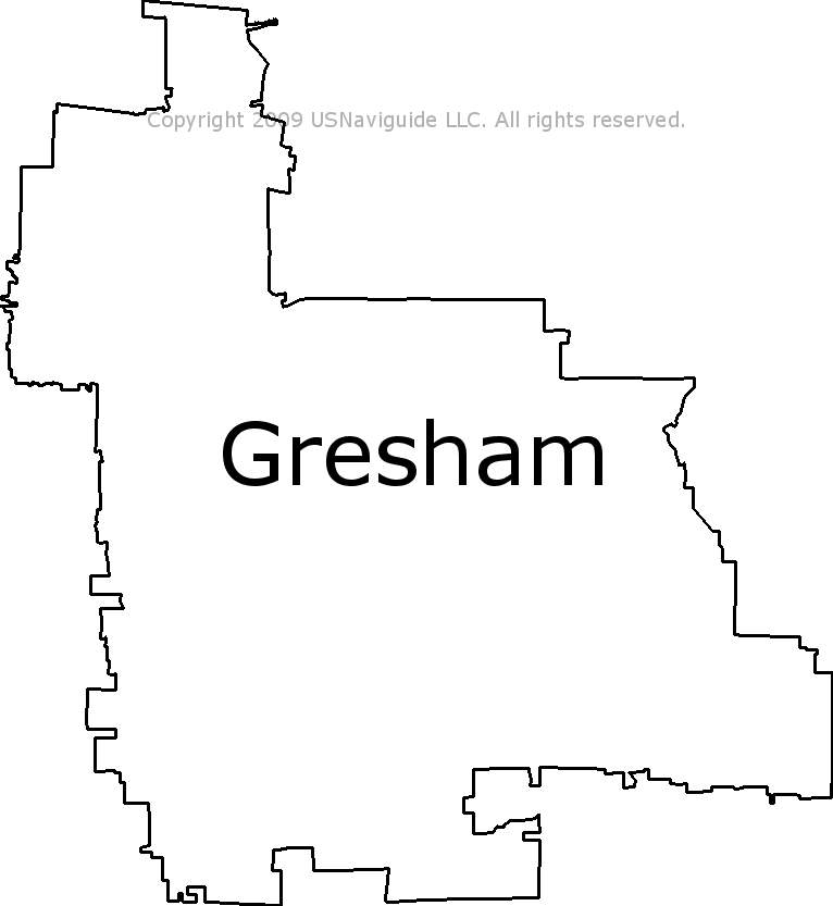 Gresham Oregon Zip Code Map.Gresham Oregon Zip Code Boundary Map Or