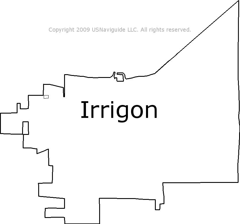 Irrigon Oregon Map.Irrigon Oregon Zip Code Boundary Map Or