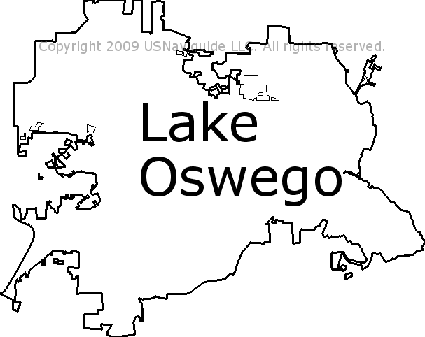 Lake Oswego Zip Code Map.Lake Oswego Oregon Zip Code Boundary Map Or