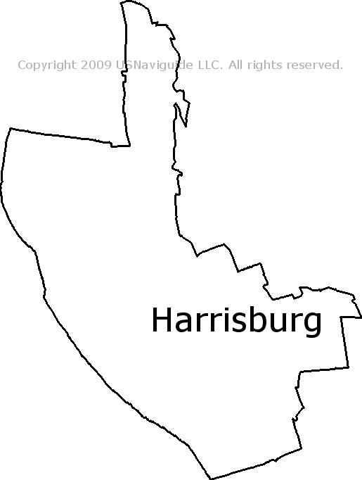 Harrisburg Pennsylvania Zip Code Boundary Map Pa