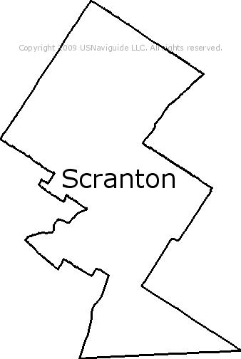 Time Zones Map: Scranton Zip Code Map