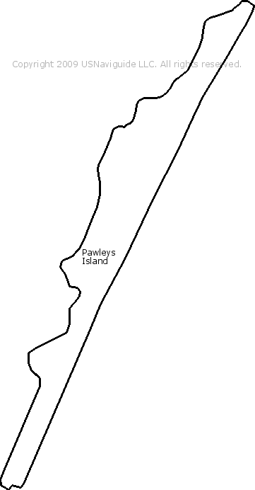 Pawleys Island Zip Code Map.Pawleys Island South Carolina Zip Code Boundary Map Sc