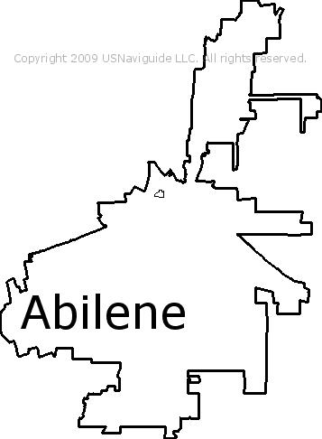 Abilene Texas Zip Code Boundary Map Tx