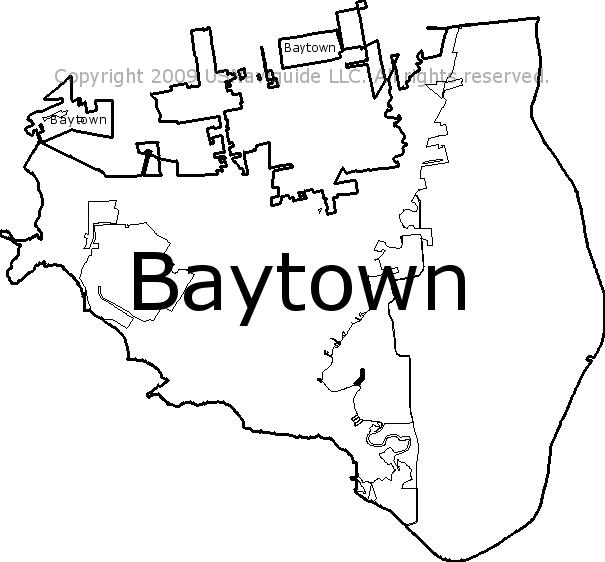 La Porte Tx Zip Code Map.Baytown Texas Zip Code Boundary Map Tx