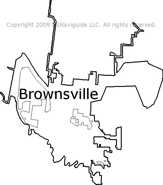 Brownsville Texas Zip Code Boundary Map Tx