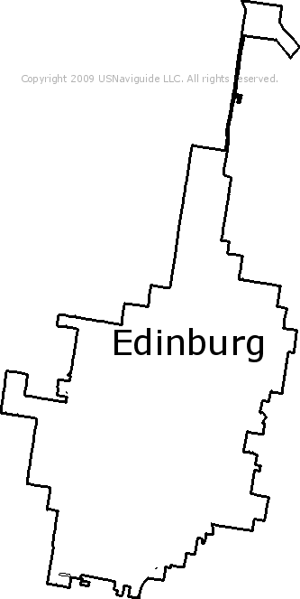 Edinburg Texas Zip Code Boundary Map Tx