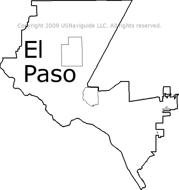 El Paso, Texas Zip Code Boundary Map (TX) on zip code map 79901, zip codes by city, zip code map el paso 79932,