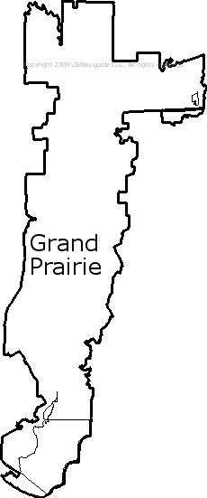 Grand Prairie Tx Zip Code Map Grand Prairie, Texas Zip Code Boundary Map (TX)