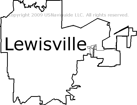 Lewisville Tx Zip Code Map.Lewisville Texas Zip Code Boundary Map Tx