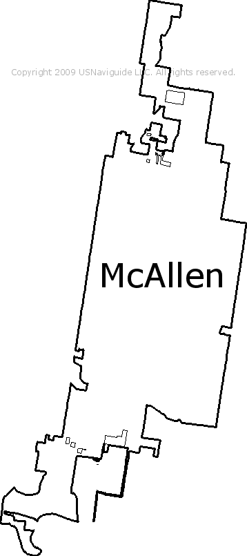 Mcallen Texas Zip Code Boundary Map Tx