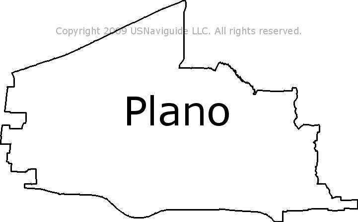 Plano Zip Code Map Plano, Texas Zip Code Boundary Map (TX)