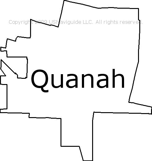 Quanah, Texas Zip Code Boundary Map (TX) on