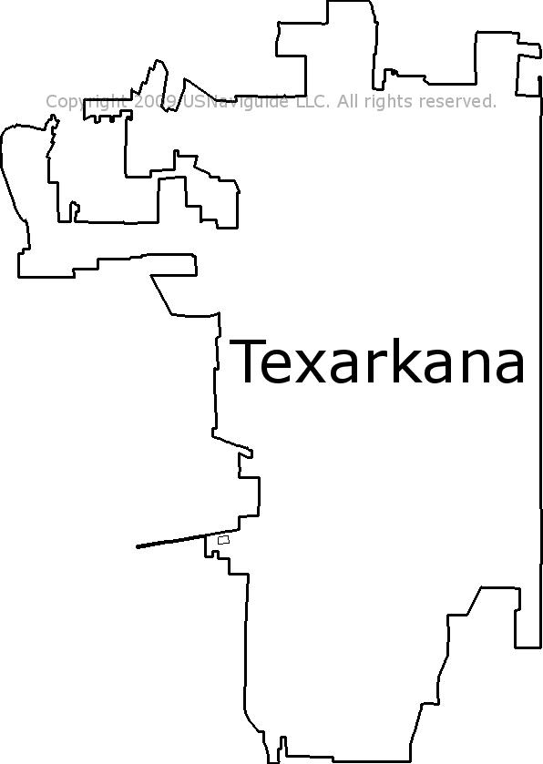 Texarkana Tx Zip Code Map.Texarkana Texas Zip Code Boundary Map Tx