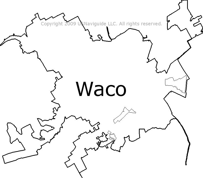 Waco Tx Zip Code Map