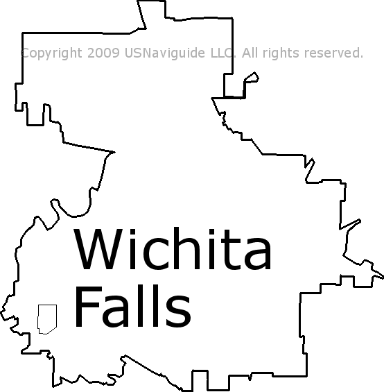 Wichita Falls Texas Zip Code Boundary Map Tx