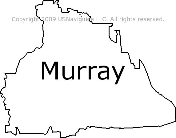 Murray Utah Zip Code Boundary Map Ut