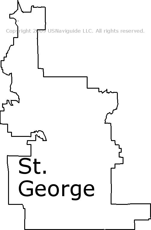 Saint George Utah Zip Code Map St. George, Utah Zip Code Boundary Map (UT)