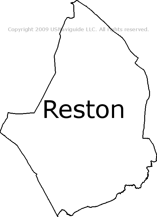 Reston Virginia Zip Code Boundary Map Va