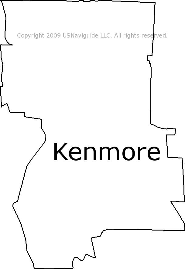 Kenmore Wa Zip Code Map.Kenmore Washington Zip Code Boundary Map Wa