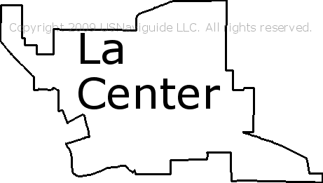 La Center Washington Zip Code Boundary Map Wa