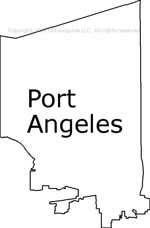 Port Angeles Zip Code Map.Port Angeles Washington Zip Code Boundary Map Wa
