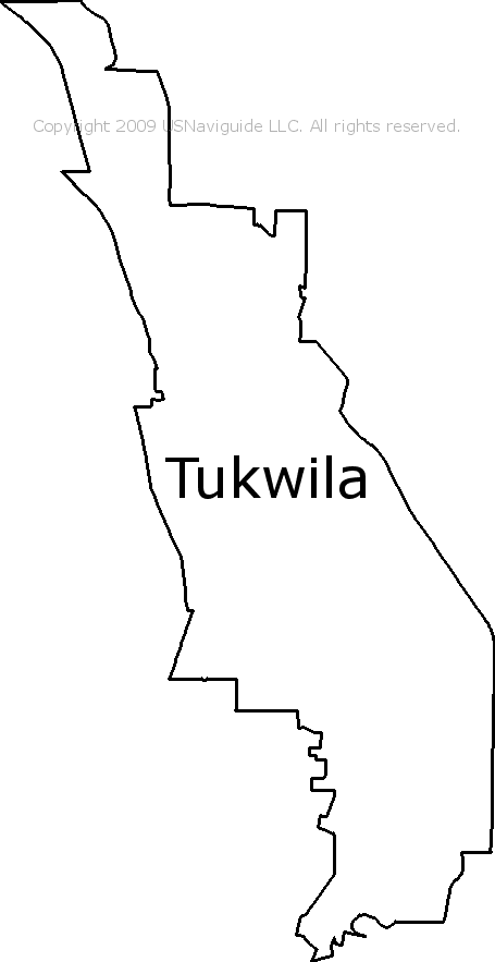 tukwila zip code map Tukwila Washington Zip Code Boundary Map Wa