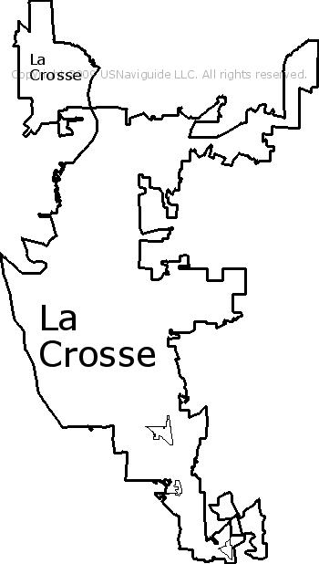 La Crosse Wisconsin Zip Code Boundary Map Wi