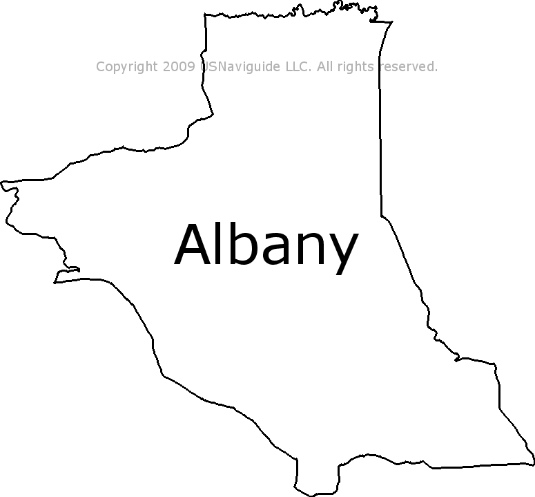 Albany Wyoming Zip Code Boundary Map Wy
