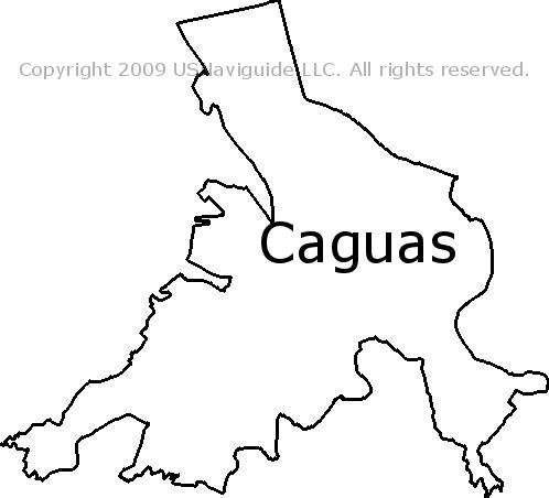 Caguas, Puerto Rico Zip Code Boundary Map (PR) on