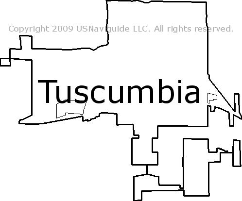 Florence Al Zip Code Map.Tuscumbia Alabama Zip Code Boundary Map Al