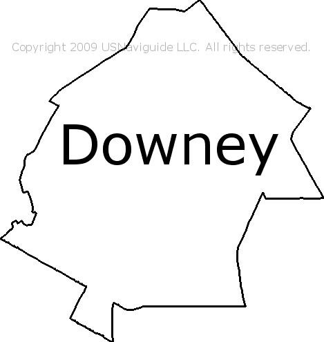 Zip Code Map For Downey Ca.Downey California Zip Code Boundary Map Ca