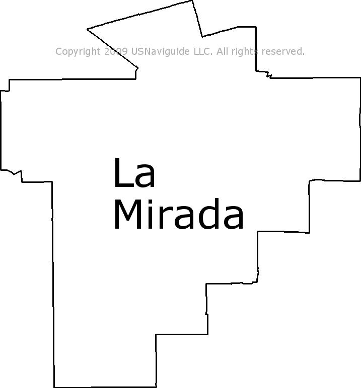 La Mirada Zip Code Map.La Mirada California Zip Code Boundary Map Ca