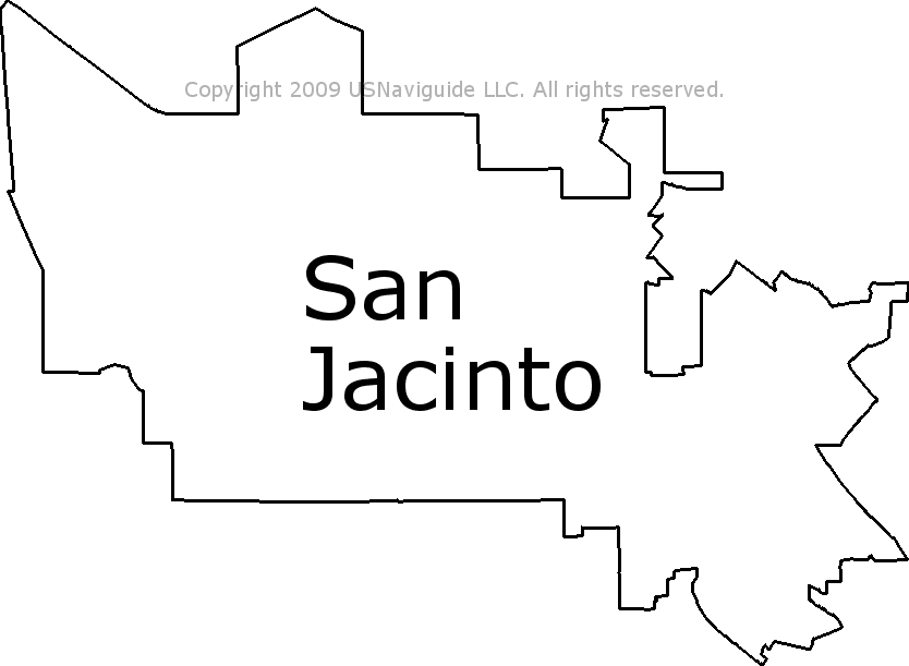 Hemet Ca Zip Code Map.San Jacinto California Zip Code Boundary Map Ca