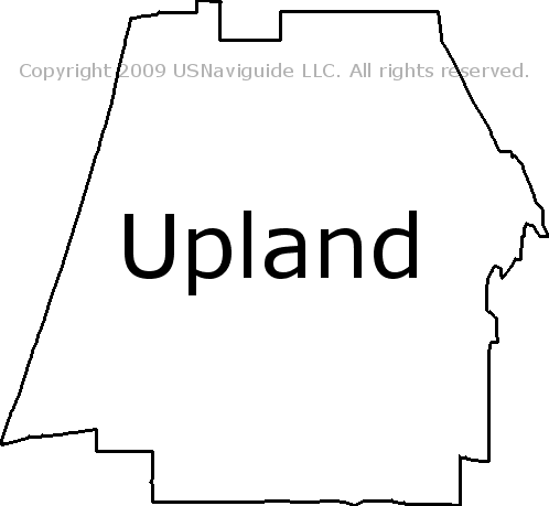 Upland Zip Code Map.Upland California Zip Code Boundary Map Ca