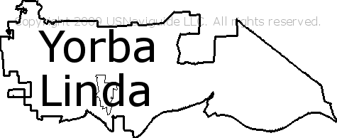 Yorba Linda Ca Zip Code Map.Yorba Linda California Zip Code Boundary Map Ca