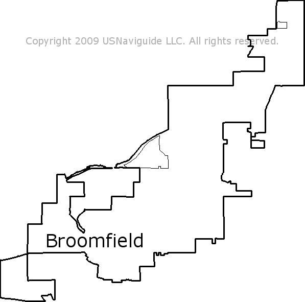 Broomfield Colorado Zip Code Map.Broomfield Colorado Zip Code Boundary Map Co