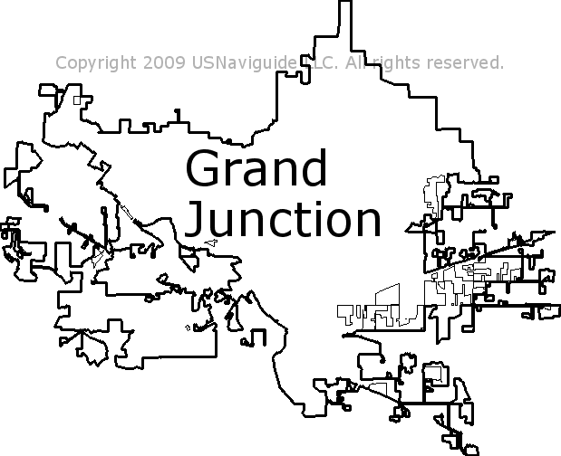 Grand Junction Co Zip Code Map.Grand Junction Colorado Zip Code Boundary Map Co