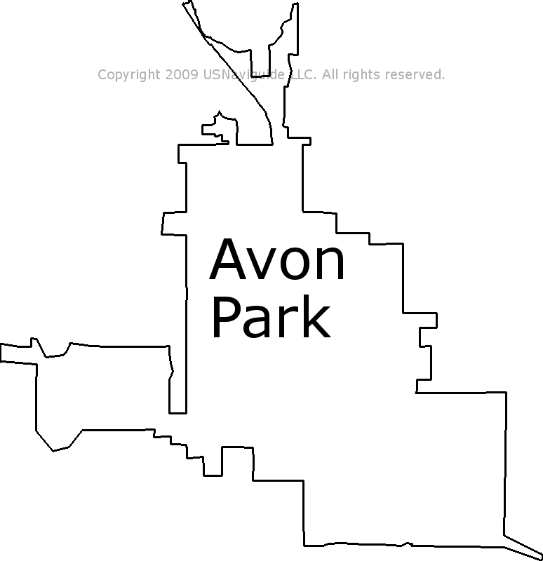 Avon Park Florida Zip Code Boundary Map Fl